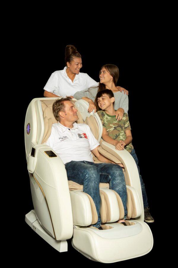 Apollo white massage chair - family chill