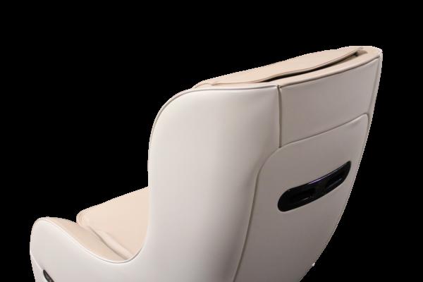 Neptun massagestol i beige og hvid farve - bagfra stolens ryg