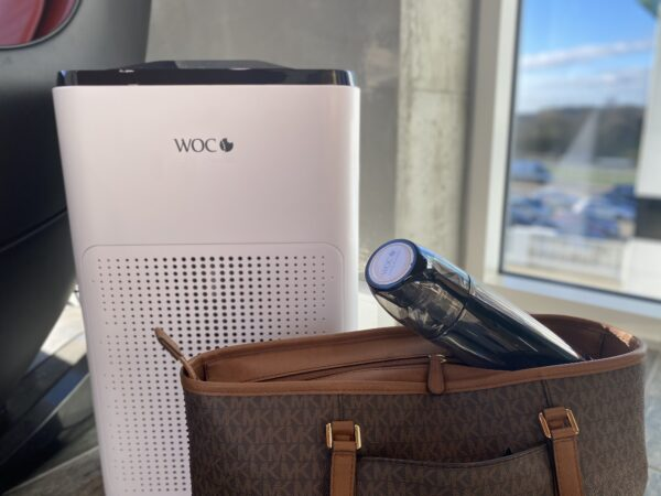 Health and health package with Air comfort air purifier and hydrogen waterbottle water bottle on the go